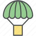 air balloon, charliere, fly balloon, hot airballoon, parachute balloon icon