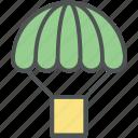 air balloon, charliere, fly balloon, hot airballoon, parachute balloon icon