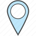 location marker, location pin, location pointer, map locator, map pin, map pointer icon