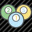 billiard, billiard balls, pool balls, pool game, snooker balls icon