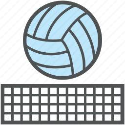 ball, baseball, basketball, game, sports, sports ball, volleyball, volleyball net icon