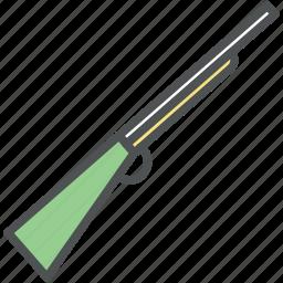 fowling piece, gun, rifle, rifle gun, scattergun, shoot weapon, shotgun icon