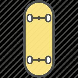 fun board, ice skateboard, ice skating, ski board, surfboard icon