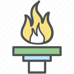 flambeau burn, flame, olympic, olympic flame, olympic torch, torch relay icon