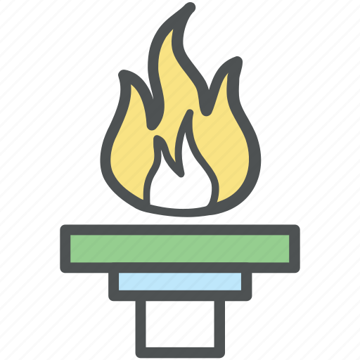 Flambeau burn, flame, olympic, olympic flame, olympic torch, torch relay icon - Download on Iconfinder