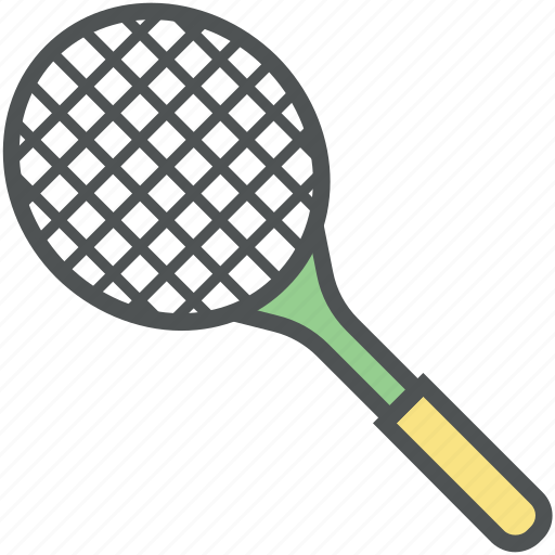 badminton racket, racket, sports, squash racket, tennis racket icon