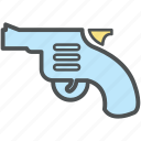 firearm, gun, handgun, pistol, revolver, revolver gun, shoot weapon, weapon piece icon