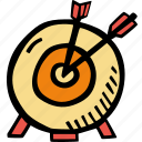 archery, fitness, gym, sports, target, training icon