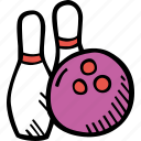 bowling, fitness, gym, sports, training icon