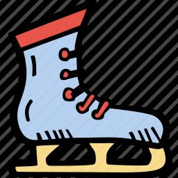 fitness, gym, ice, skating, sports, training icon