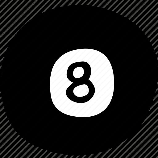 ball, eight, fitness, gym, pool, sports, training icon