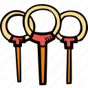 fitness, gym, quidditch, rings, sports, training icon