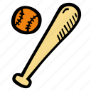 baseball, bat, fitness, gym, sports, training icon