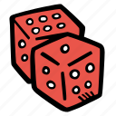 dice, fitness, gym, sports, training icon