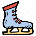 fitness, gym, ice, skating, sports, training icon