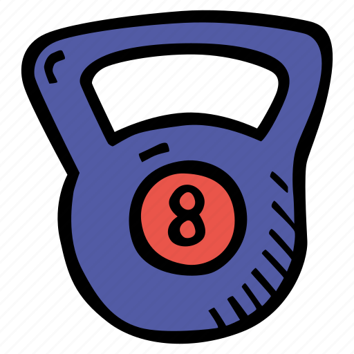 fitness, gym, kettlebell, sports, training icon
