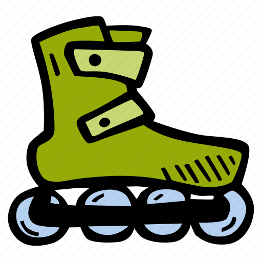 fitness, gym, roller, skating, sports, training icon