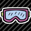 fitness, gogles, gym, ski, sports, training icon