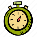 fitness, gym, sports, stopwatch, training icon