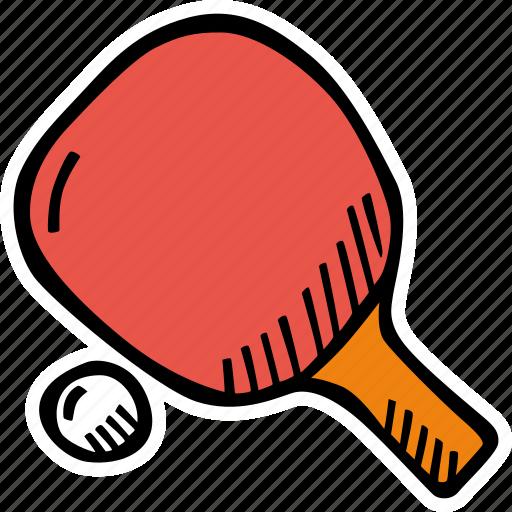 and, ball, ping, pong, racket, table, tennis icon