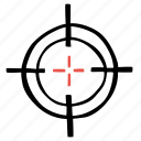 crosshair, fitness, gym, sports, target, training icon
