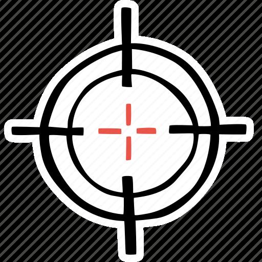 crosshair, fitness, gym, sports, target, training icon