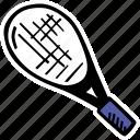 fitness, gym, racket, sports, tennis, training icon