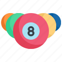 billiard, cue, game, pool, snooker, sport, table icon