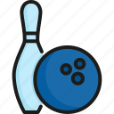 ball, bowling, competition, game, pin, sport, strike icon