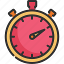 chronometer, countdown, sport, stop, stopwatch, timer, watch icon