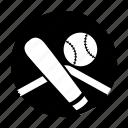 baseball, baseball bat, softball, sport gear, team sports icon