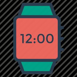 alarm, applewatch, device, digital, time, view, watch icon