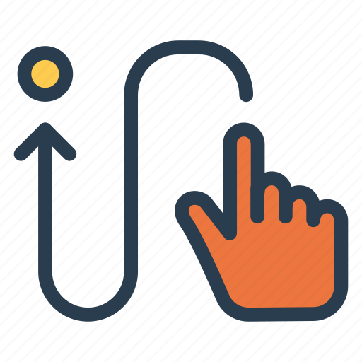 arrow, direction, location, move, navigation, pointer, way icon