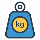 balance, dumbbell, fitness, gym, kilogram, sport, weight icon
