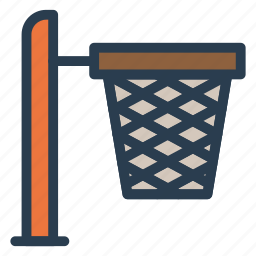 basket, basketball, bin, box, bucket, cart, empty icon