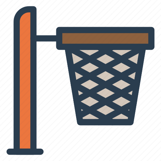 basket, basketball, bin, box, bucket, cart, empty icon