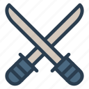 battle, blade, knife, shield, sword, war, weapon icon