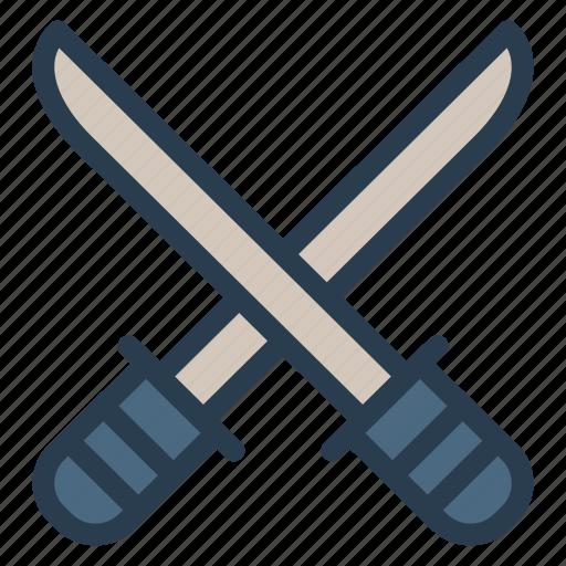 battle, blade, knife, shield, sword, war, weapon icon