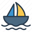 boat, sailboat, sailing, sea, ship, travel, yatch icon