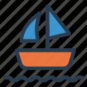 boat, sailing, sea, ship, transport, waterways, yatch