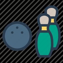 ball, bowling, enjoy, play, player, sports, strike icon