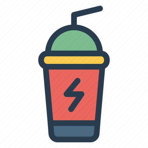 cup, drink, fruit, glass, juice, orange, soda icon