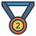 achievement, award, badge, gold, medal, prize, trophy icon