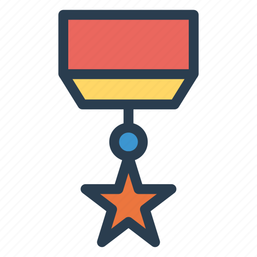 awards, badge, gold, medal, prize, sport, star icon