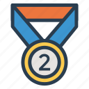 awards, badge, gold, medal, prize, sport, win icon