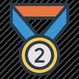 awards, badge, gold, medal, prize, sport, win icon