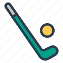 ball, fitness, goal, hockey, play, sport, stick icon