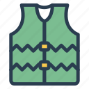coat, guard, jacket, lifejacket, safety, survival, wear icon