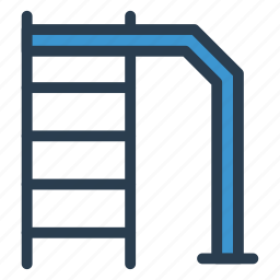 ladder, pool, sign, stairs, swim, water, way icon