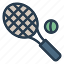 exercise, game, racket, shuttle, sports, tennis, tennisball icon